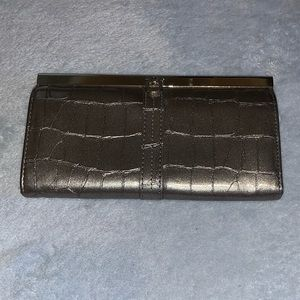 Handbags - Beautiful pewter accordion wallet